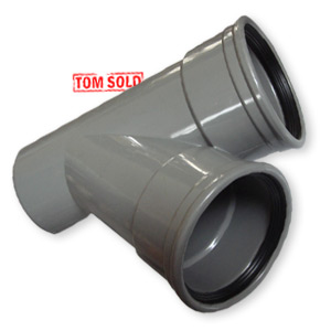 PVC MANCHET * SPIE T-STUK 45°