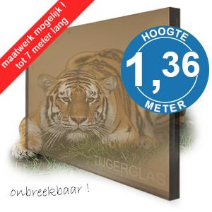 TIJGERGLAS / LEXAN BRONS 136,5cm