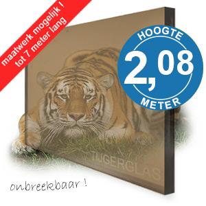 TIJGERGLAS / LEXAN BRONS 208cm