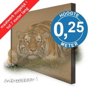 TIJGERGLAS / LEXAN BRONS 25cm