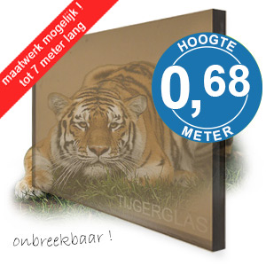 TIJGERGLAS / LEXAN BRONS 68cm