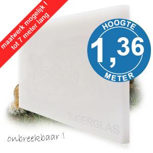 TIJGERGLAS / LEXAN OPAAL WIT 136,5cm