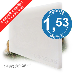 TIJGERGLAS / LEXAN OPAAL WIT 153,7cm