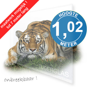 TIJGERGLAS / LEXAN HELDER 102cm