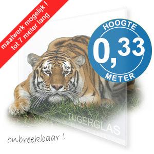 TIJGERGLAS / LEXAN HELDER 33,5cm