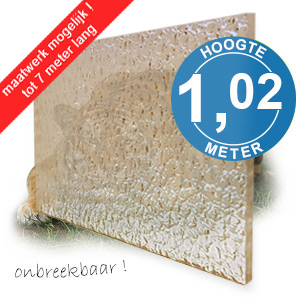 TIJGERGLAS / LEXAN STRUCTUUR 102,2cm
