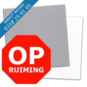 OPRUIMING ALUPANEL GRIJS / WIT RAL 9006 / 9016