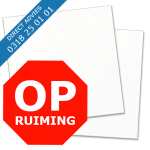 OPRUIMING ALUPANEL WIT RAL 9016 MAT / MAT
