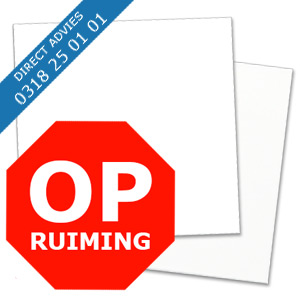 OPRUIMING ALUPANEL WIT RAL 9016 MAT / GLANS