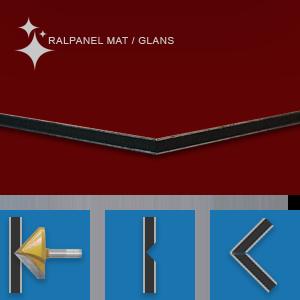 RALPANEL 3004 PURPERROOD 1* MAT 1* GLANS