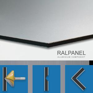 RALPANEL 9006 GRIJS / 9016 WIT 2* MAT